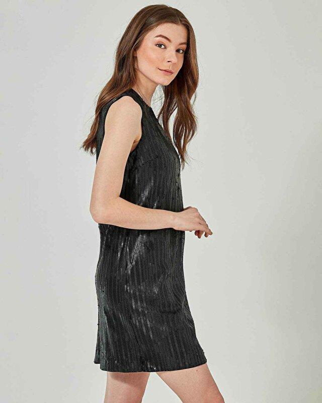 Payet Kaplamalı Elbise