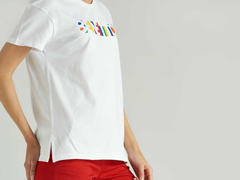 Benetton Baskılı Tshirt