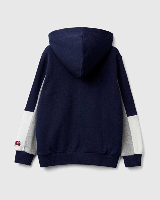 Renk Bloklu Sweatshirt
