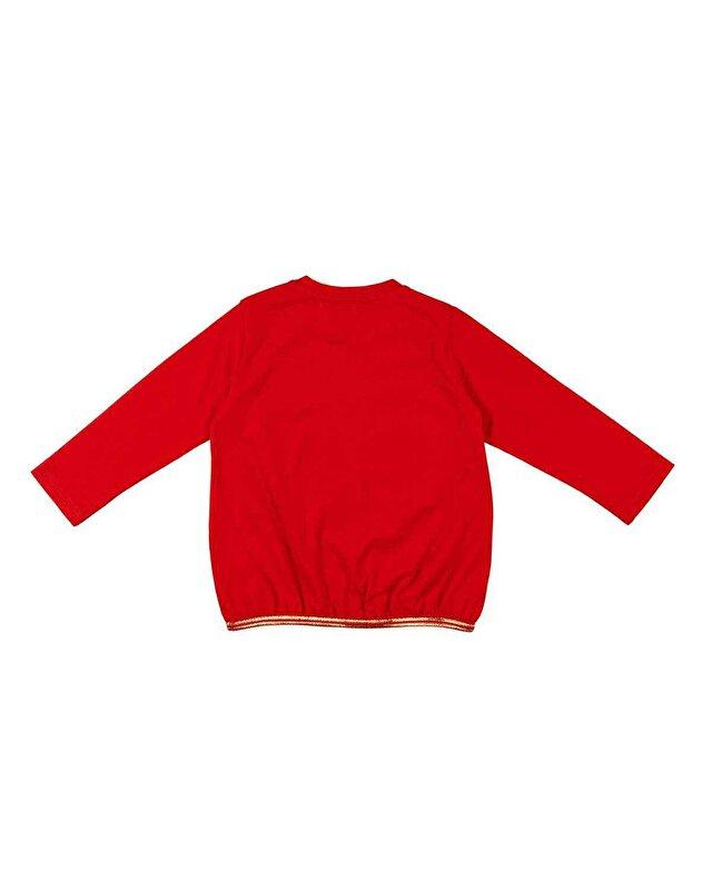 Postakartı Baskılı Sweatshirt