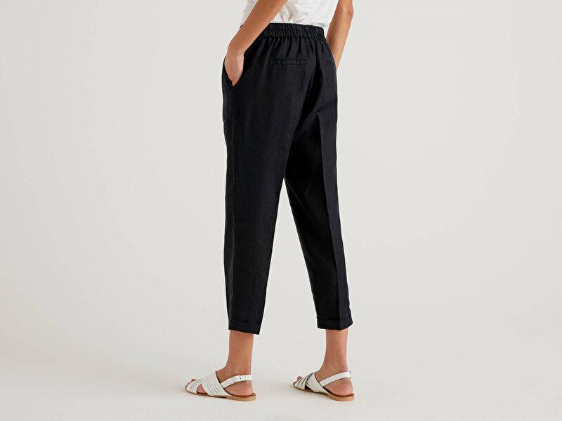 Beli Lastikli Keten Pantolon